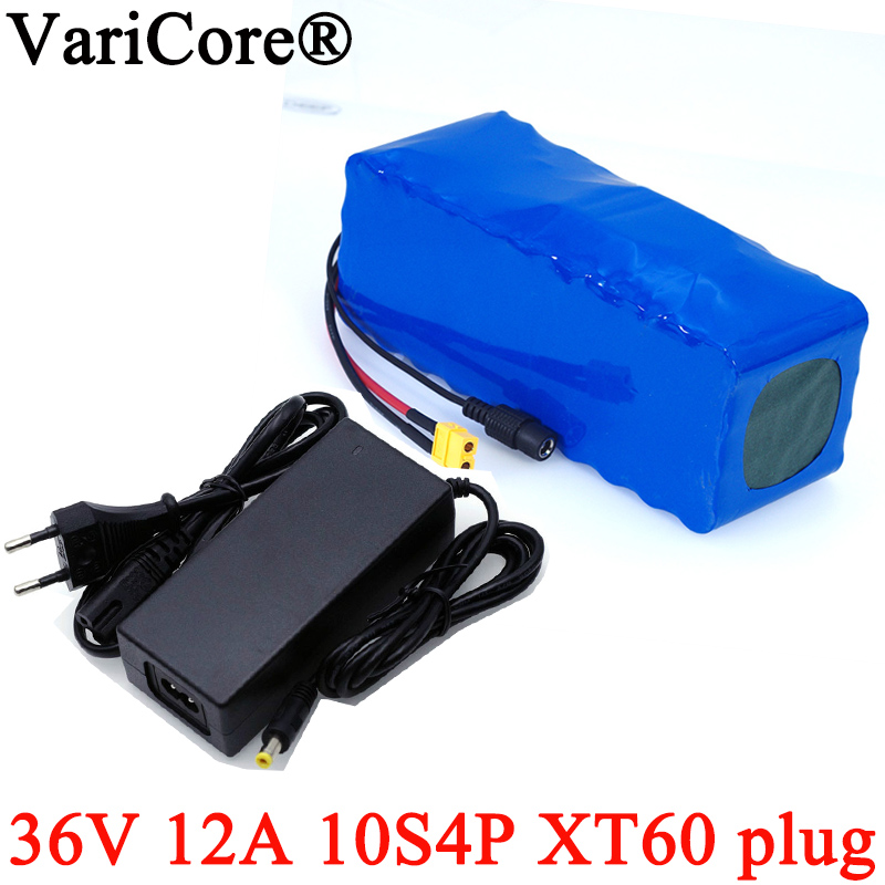 36V 12Ah 18650 Li ion batterie pack 10s4p haute puissance XT60 plug Balance voiture moto électrique vélo Scooter BMS + 42v chargeur