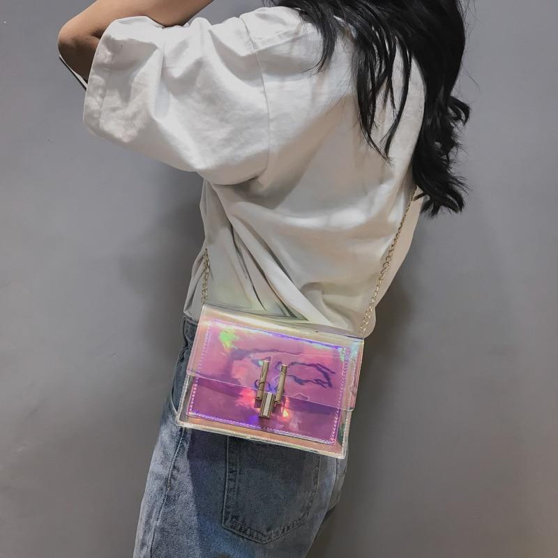 Korean Style Fashion women Bag Women 39 s Shoulder Bag Transparent Handbag Women Jelly Crossbody Bag Small bag in Shoulder Bags from Luggage amp Bags