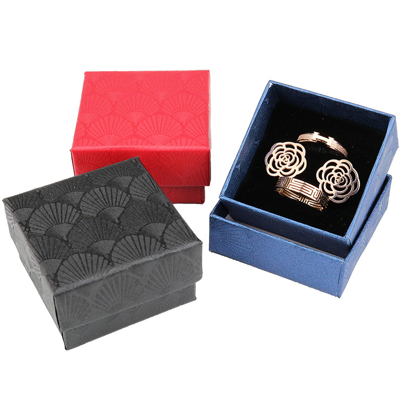Scallop Jewelry Gift Box Ring Necklace Earring Bracelet Wedding Date Jewelry Gift Box Delicate Solid Color Jewelry Box
