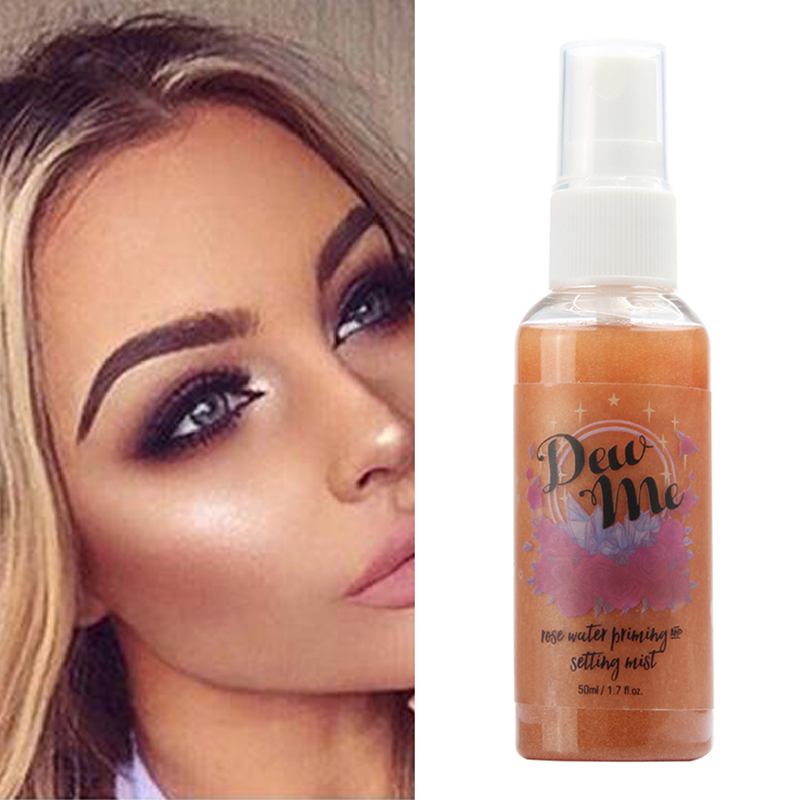 Spray Highlight Brighten Face Whiting Rose-Gold Makeup Glow Liquid-Setting Shimmer Illuminating-Face