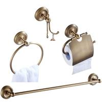 Towel Ring Bathroom Hardware Sets Toilet Roll Paper Holder Bronze Brass Brush Bathroom Accessories Set Bathroom Products wr5