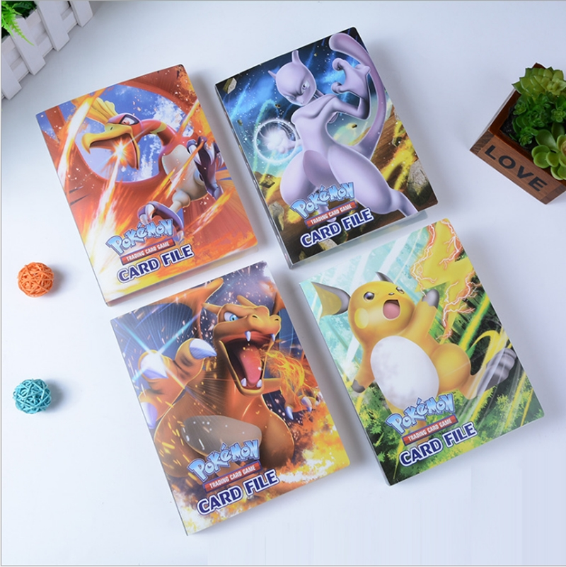 Hot 240Pcs Holder Album Toys Collections Trading Cards Album Book Top Loaded List Toys Gift For Children Gifts Xmas