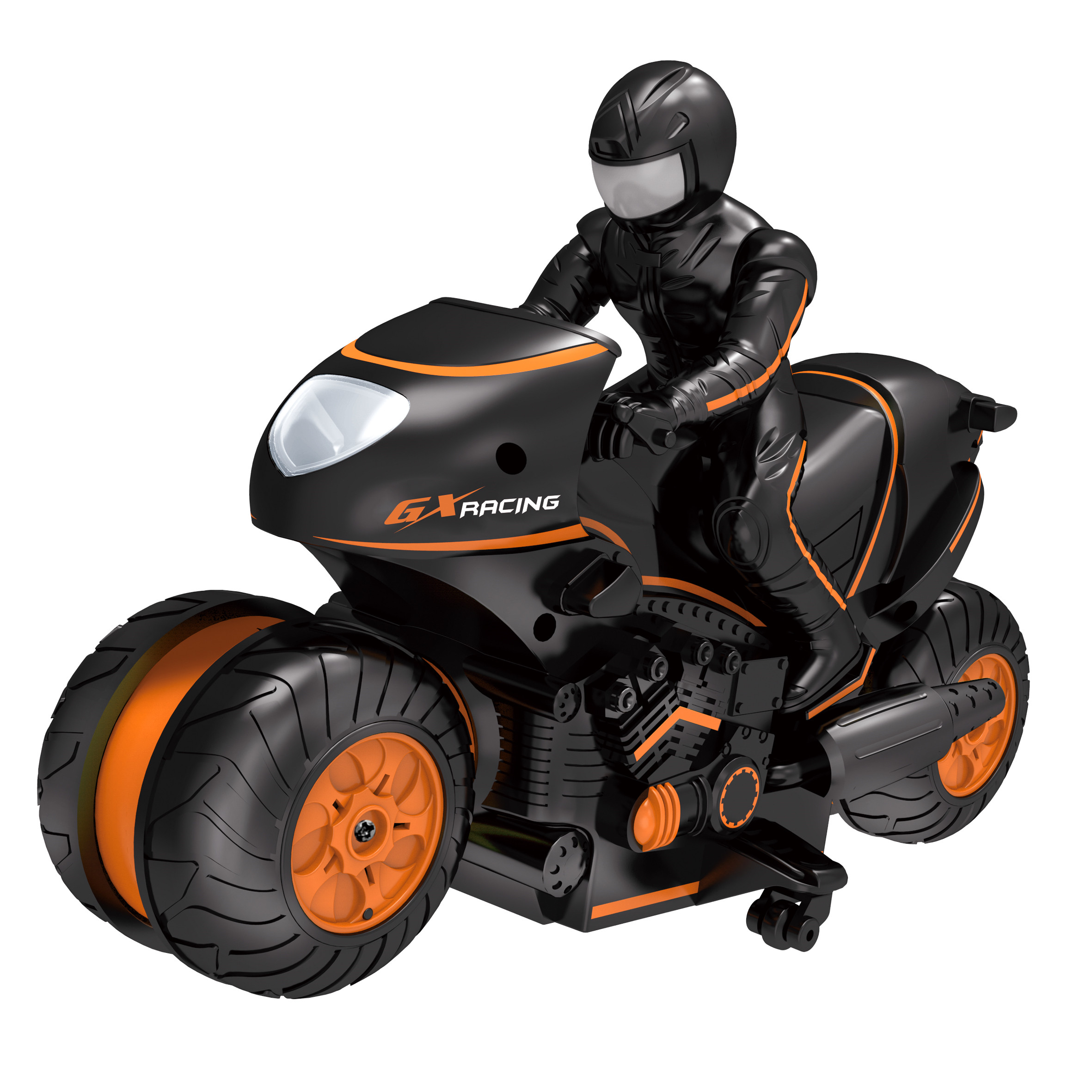 RC Car Mini Motorcycle Remote Control Motor Electric Motorcycle 2.4 Ghz  2WD High Speed Toys For Children Gift Orange Color