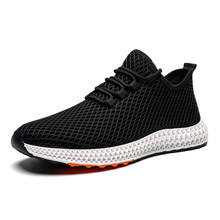 2019 Fall Winter Breathable Fabric Tennis Sneakers Breathable Casual Shoes Mesh Flats Sneaker Running Man Outdoor Shoes(China)