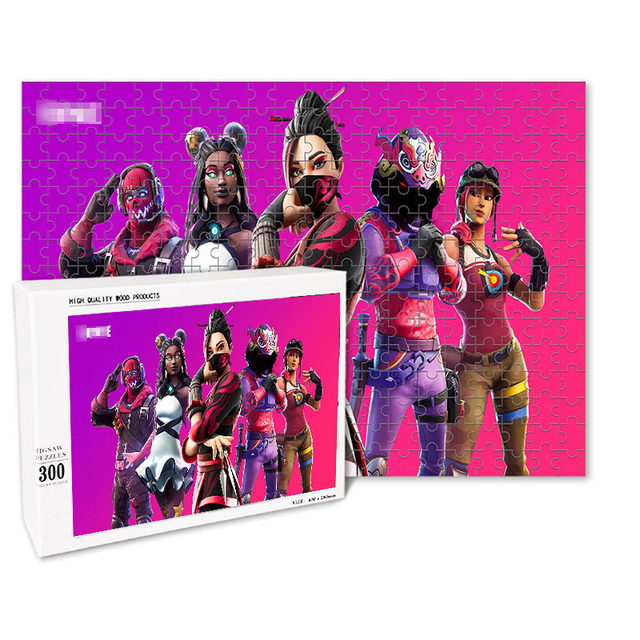 Fortniteing Game Puzzles Toys 300 Pieces Anime Figures Assembling Puzzle Children Educational Puzzles Toys for Boys Girls Gifts 3