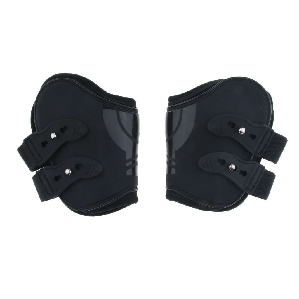 2 Pairs Equine Horse/Pony Advanced Open Front Jumping Boots Set Horses Leg Protection Warps