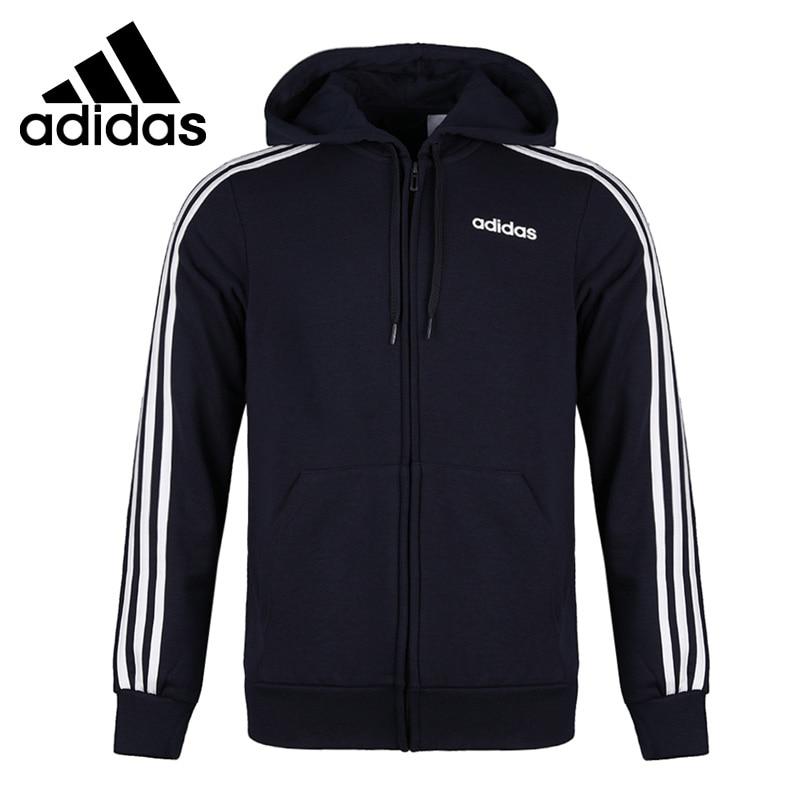 Original New Arrival  Adidas E 3S FZ FT Men's jacket Hooded  Sportswear