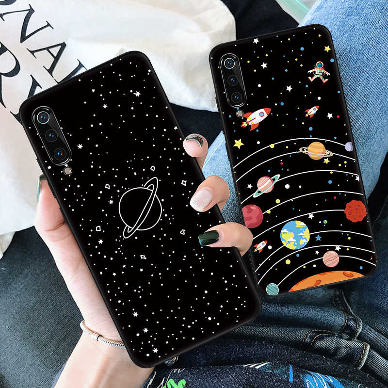 Space Planet Star Pattern Case For Xiaomi Mi 9 se CC9 A2 A3 8 Lite 9t CC9E Phone Case Redmi Note 7 5 Pro Silicone TPU Cover Capa