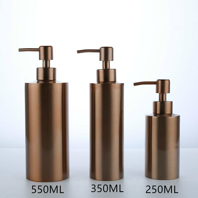 Hotel Shower Rose Gold 304 Stainless Steel Soap Dispenser Bathroom Hardware Hand Sanitizer Bottle Soap Dispenser Pump
