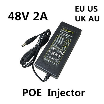 DC 48V 2A 2000MA 96W POE Power Supply Adapter 48 V Volt For CCTV Security Surveillance POE Injector Ethernet IP Camera Phone