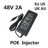 DC 48 V 2A 2000MA 96W POE Netzteil Adapter 48 V Volt Für CCTV Sicherheit Überwachung POE Injektor ethernet IP Kamera Telefon