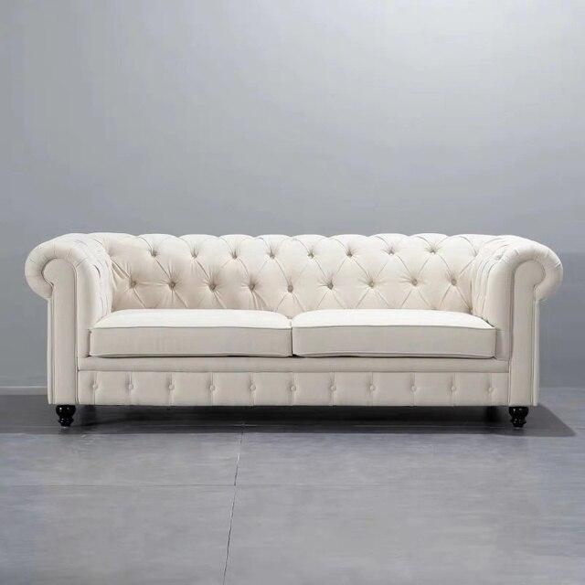 U-BEST Luxury Vintage 2 seat Chesterfield Sofa  3