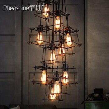 Retro yaratıcı kişilik bar cafe bar lambası restoran minimalist loft lambaları