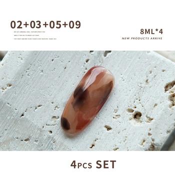 SKVP 8ML Dull Color Gel Polish Translucent  Manicuring UV LED Crystal Gel Soak Off Jelly UV Gel Nail Polish Semi Permanent 10