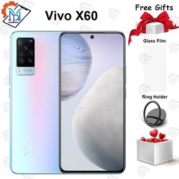 Перейти на Алиэкспресс и купить Оригинальный Vivo X60 5G мобильный телефон 6,56 дюймAMOLED 120 Гц Экран 8G + 128G Exynos 1080 Octa Core Android 11 48.0MP Камера Smartpone