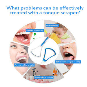 Random Color Tongue Scraper Cleaner Useful Fresh Bad Breath Cleaning Removel Tongue Coated Tongue Oral Hygiene Care Accessories