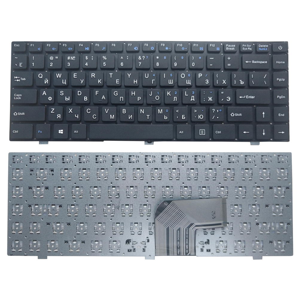 OVY RU laptop keyboard for Teclast F6 F7 P/N:PRIDE K2381 343000041 DK MINI 300 US VER:A3 KB hot sale Russian|Replacement Keyboards| |  - title=