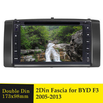 Double Din Car Radio Fascia Stereo Adaptor Panel Plate For BYD F3 2005-2013 Audio DVD Player Frame Fitting Dash Trim Bezel Facia image