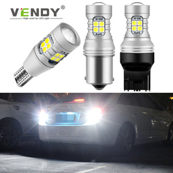 1pcs Canbus LED Reverse Light Auto Rear Fog Lamp DRL Bulb For The Car W16W T15 P21W BA15S 1156 7440 W21W T20 3157 P27W 12V White