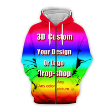 3D Print Diy Custom Design Mens Womens Clothing Hip Hop Swea