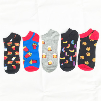 Creative Funny Men's Socks Invisible Low Cut Ankle Sock Summer Food Sausage Hamburger Casual Breathable Cotton Short - discount item  18% OFF Men's Socks