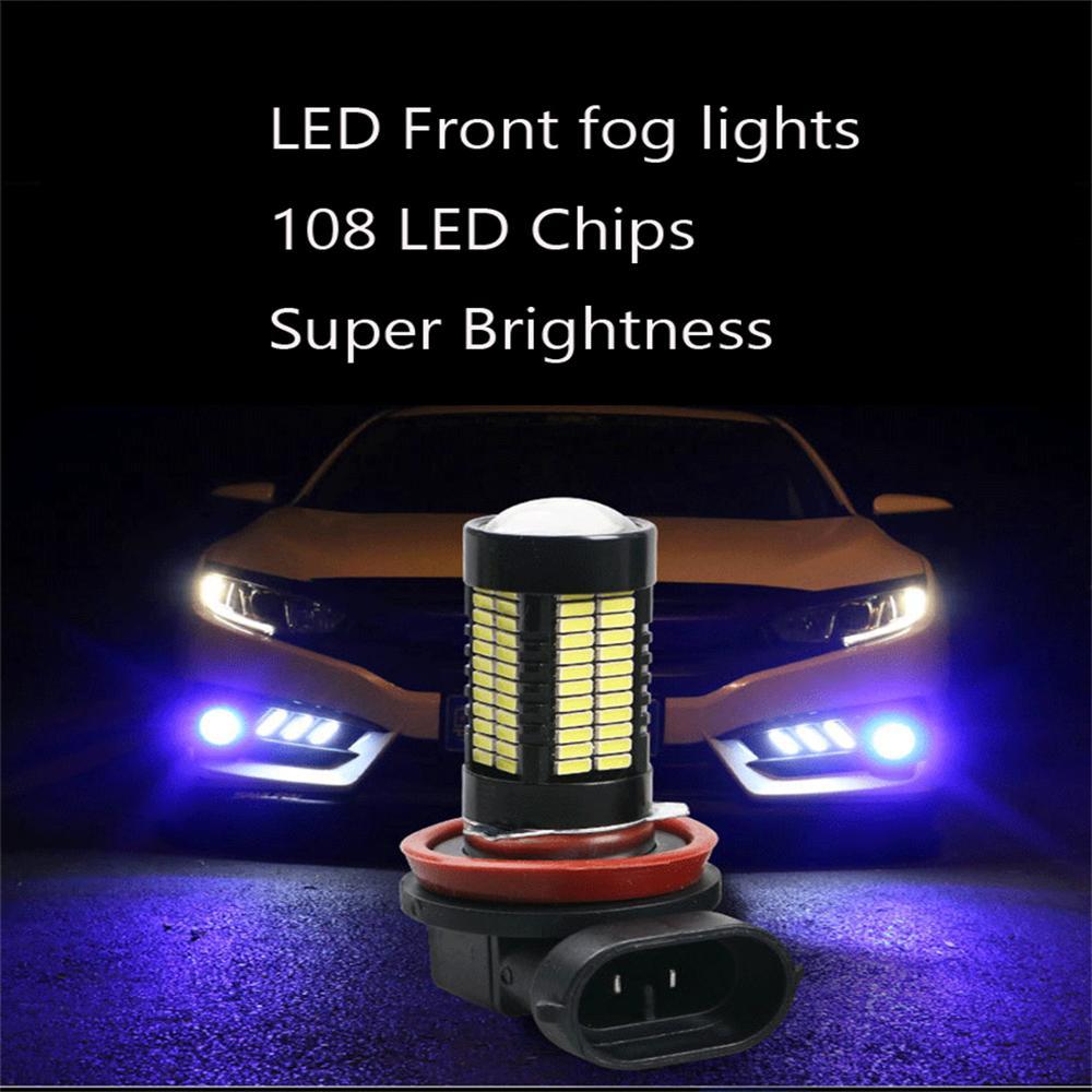 2x H11 12V 55W Super White XENON Fog Halogen Auto Car Headlight Lamp Bulb