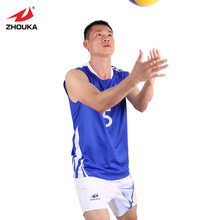 Personalizado Mens Camiseta Sublimação Impressão Camisola Esportes Jerseys Voleibol Voleibol Voleibol Uniformes Definir
