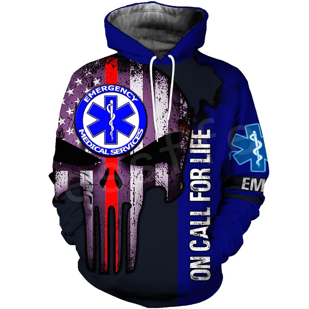 Tessffel Emergency Medical Technician EMT EMS Paramedic NewFashion Unisex Pullover 3DPrint Sweatshirt/Hoodies/zipper/Jacket s-13
