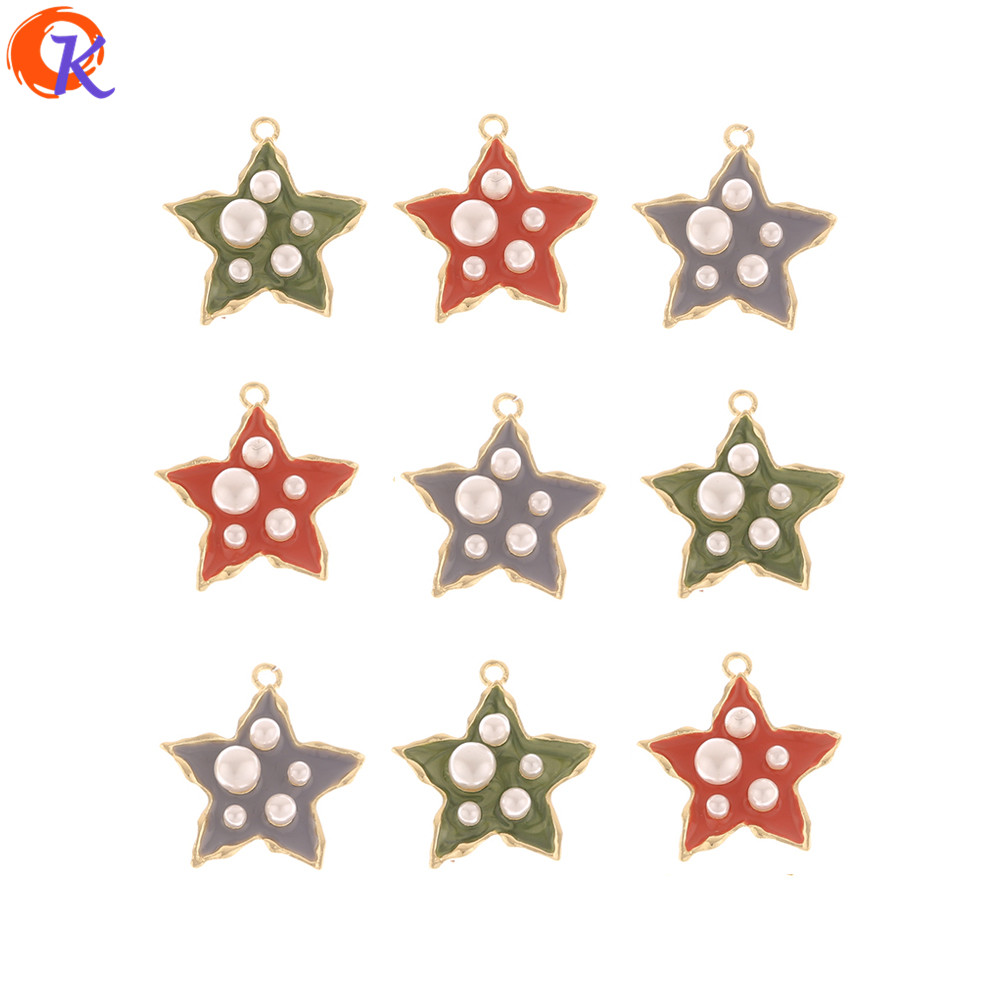 Cordial Design 50Pcs 25*27MM Jewelry Accessories/DIY Making/Pendant/Paint Effect/Imitation Pearl/Hand Made/Earring Findings