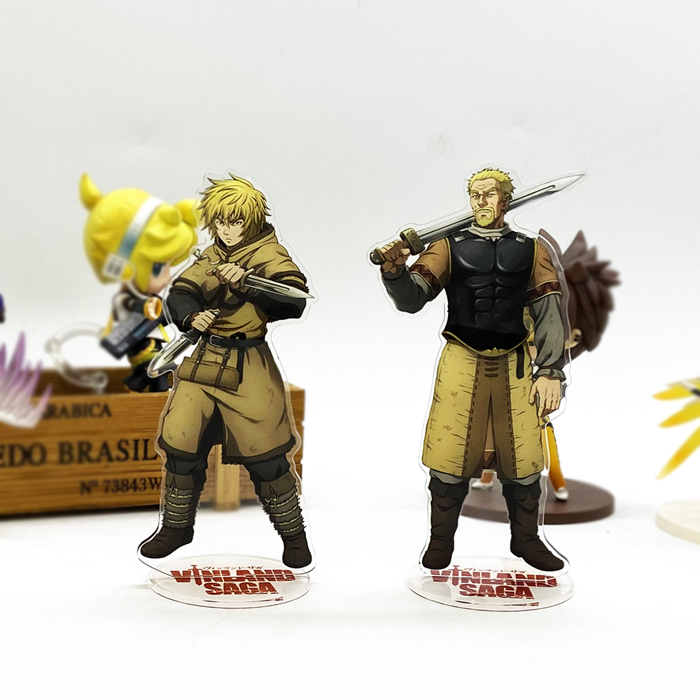Love Thank You VINLAND SAGA Thorfinn Askeladd Acrylic Stand Figure Model Plate Holder Cake Topper Anime Toy