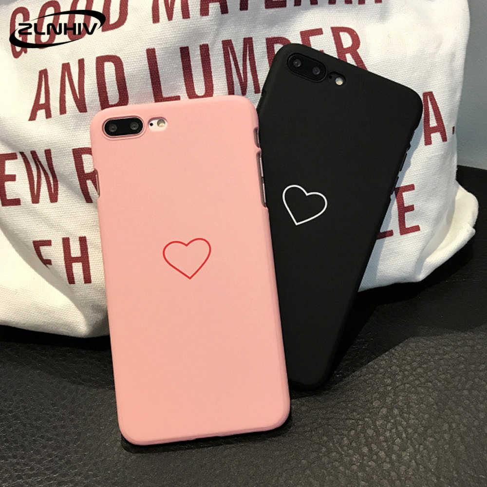 ZLNHIV คนรักหัวใจสำหรับ iPhone 11 Pro X XR XS MAX 6 6 S 7 8 PLUS กระเป๋าโทรศัพท์อุปกรณ์เสริม coque โทรศัพท์กันกระแทก