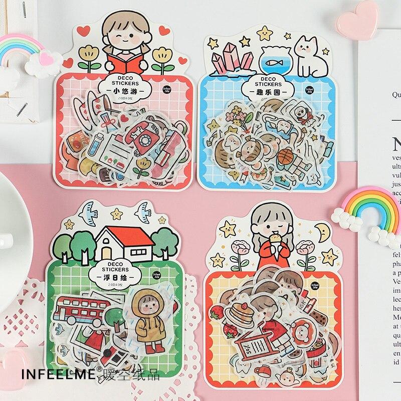 40 Pcs/pack Creative Fun Childhood Kawaii Sticker Decoration Diy Ablum Diary Scrapbooking Label Sticker Cute Stationery