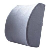 Cadeira travesseiro espuma de memória lombar voltar apoio almofada alívio travesseiro para escritório casa carro auto viagem assento do impulsionador