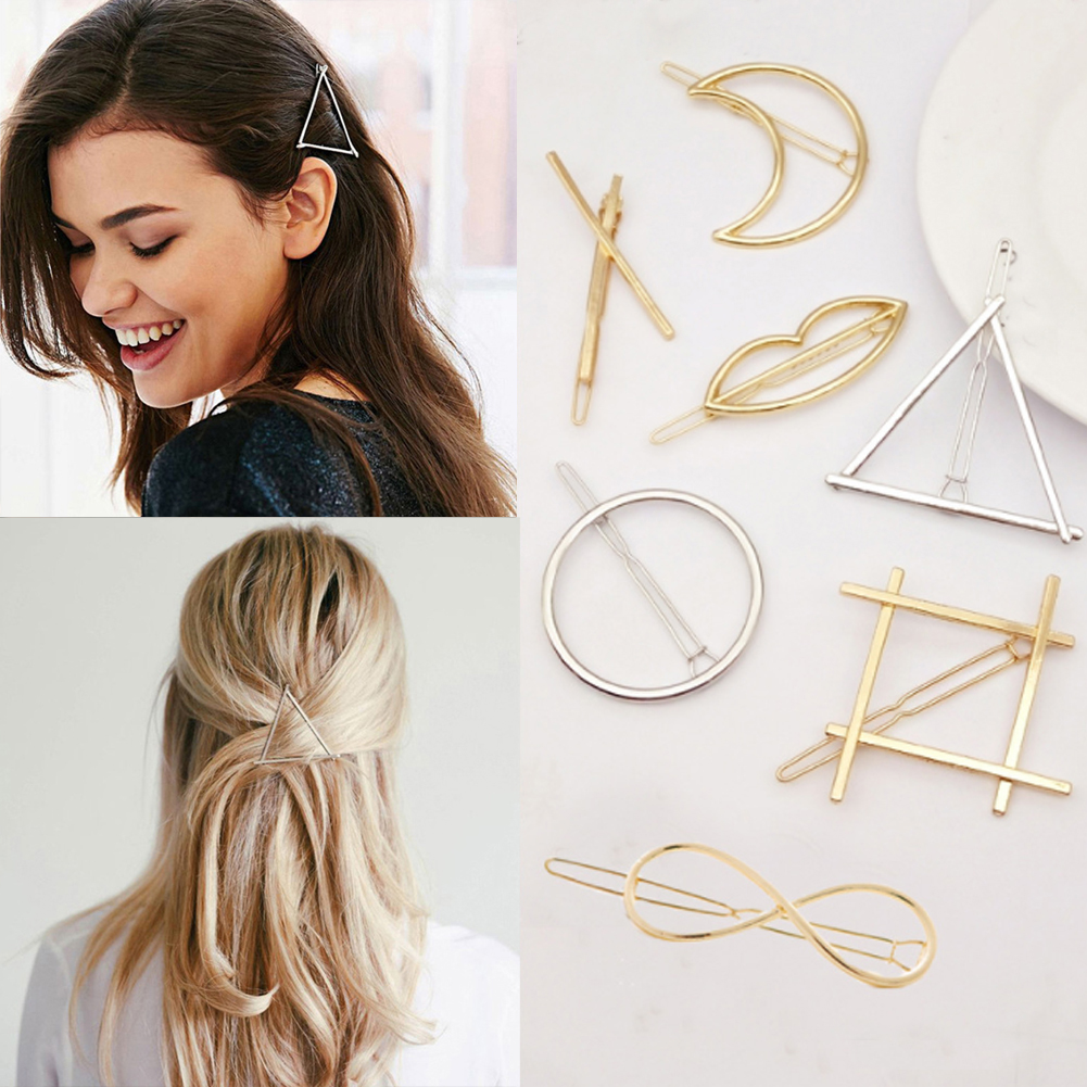 Fashion Hairpin Barrettes Clips For Women Hair Side Geometric Stars Knot Hairpins Ponytail Bobby Pins Girls Hair Accessories