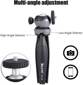 Image 2 - XILETU XS 20 Mini Desktop little Phone Stand Tabletop Tripod for Vlog Mirrorless Camera Smart phone with Detachable Ball head