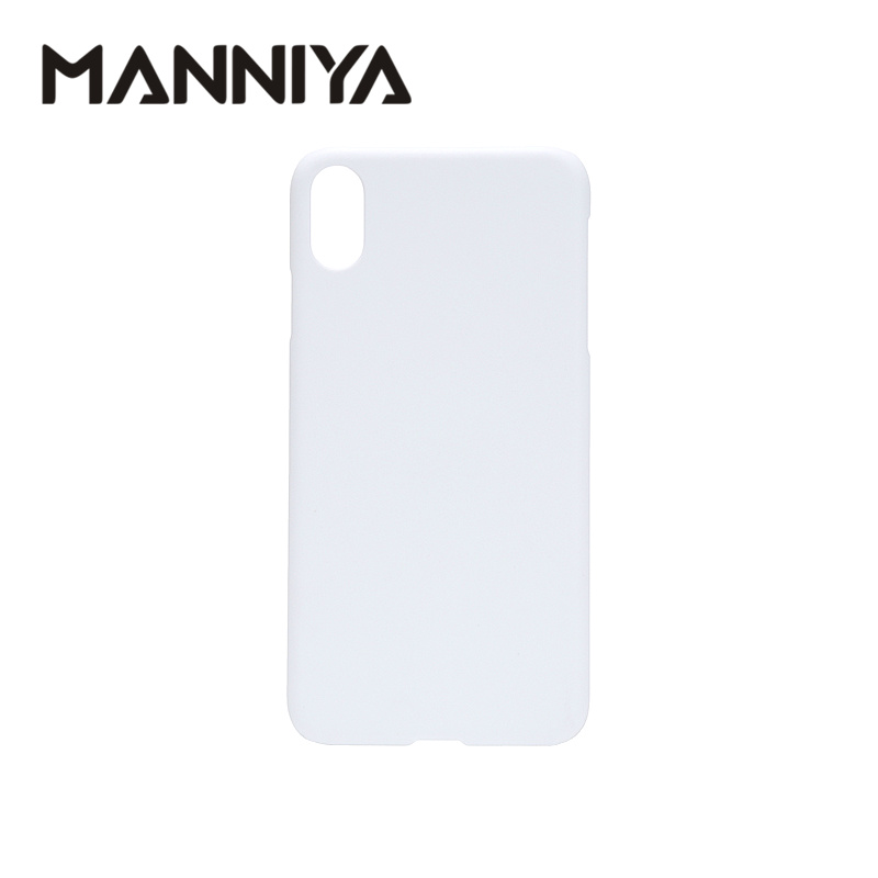 MANNIYA 3D Sublimation Blank white Phone Cases for iphone XS Max Free Shipping! 100pcs/lot-in Half-wrapped Cases from Cellphones & Telecommunications