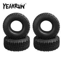 YEAHRUN 1/4 pièces résistant à l'usure 100mm 1.9 pouces jante pneus en caoutchouc pour Axial SCX10 1/10 RC Rock chenille pièces de voiture