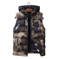 Men's Vest New Fashion Autumn Winter Mens Sleeveless Jacket Slim Fit Casual Warm Vests Male Camouflage Coat Waistcoat Size 7XL