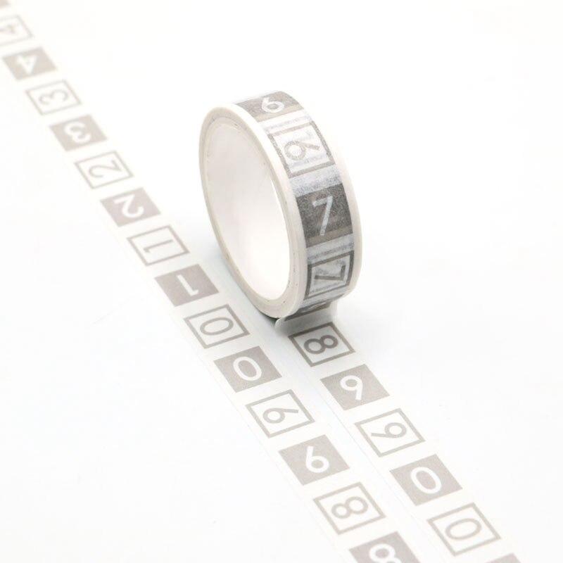 NEW Numbers Washi Tape Planner Scrapbooking Cute Cinta Adhesiva Decorativa Masking Tape Japanese Stationery