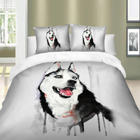 Siberian Husky / Alaska printed bedding set with pillowcases queen King twin sizes bed linens set polyester duvet cover set|Bedding Sets| |  -