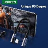 UGREEN 90 Gradi Gaming Tipo C 3.5 Martinetti Auricolare USB C a 3.5mm AUX Cuffie Adattatore Audio cavo Per huawei P40 compagno di 20