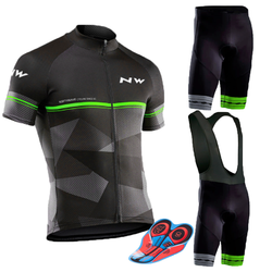2019 NW Cycling Jersey Set Summer Short Sleeve Cycling Clothing Ropa Ciclismo Maillot Ropa Uniformes Hombre