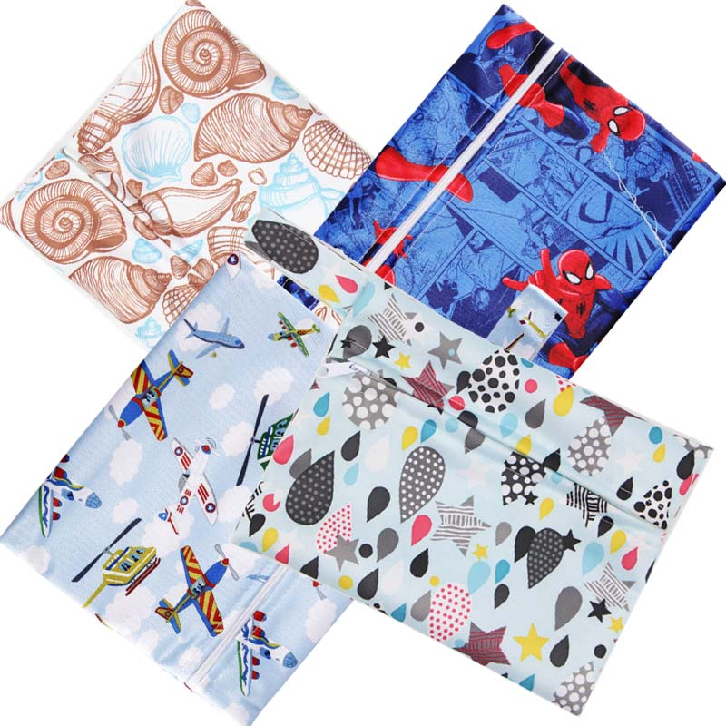 Reusable Nursing Pad Mini Wet Bag PUL WetBag For Sanitary Pads Changing Washable Nappy Diaper Bags Small Printed Maternity Bag