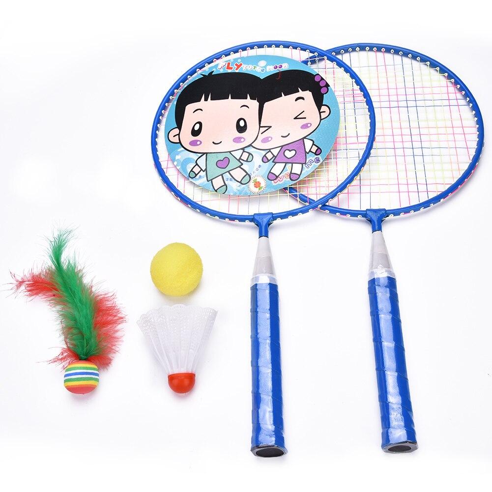 Children Kids Tennis Set with 1 Ball 1 Shuttlecock 2 Rackets Summer Outdoor Play