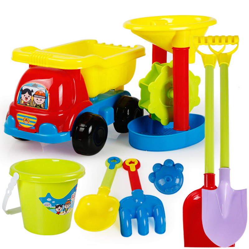 Summer Beach Baby Toys Animals Cartoon Beach Cart Bucket Set Games Kinetic Sand Mold Box Arenero Unique Toys For Kids CC50BT