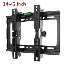 """14 42 """"הטלוויזיה קיר הר סוגר טלוויזיה שטוח מסגרת תמיכה 15 מעלות הטיה זווית עם רמת סטנדרטי עבור LCD LED צג שטוח פאן"""