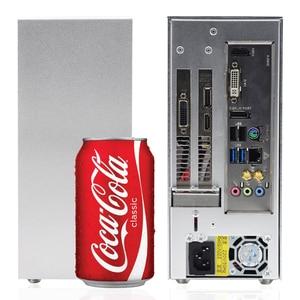 METALFISH-Juegos de PC S3 ITX MINI, maleta de aluminio, portátil, HTPC, ordenador de sobremesa, chasis vacío