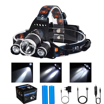 Super Bright LED Headlamp 18650 T6 LED Headlight Waterproof Fishing Lamp 4 Lighting Modes USB Rechargeable Camping Lamp 18650 panyue super bright 50w 20000lm 7 xml t6 2 r2 led headlamp usb rechargeable head lamp led headlight with sos whistle