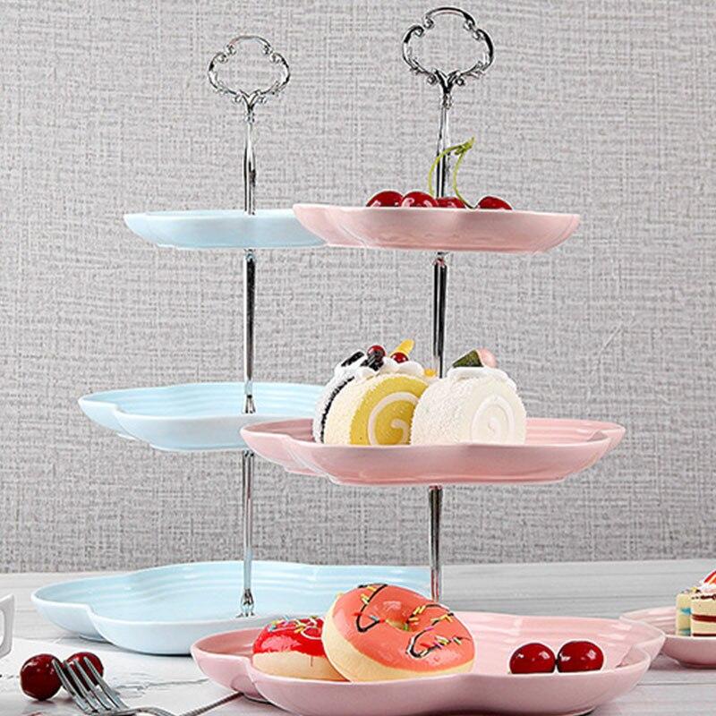 Creative 3 couches gâteau support support support nouveau gâteau plateau support gâteau accessoires argent or fête de mariage