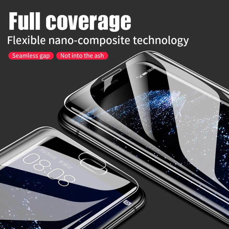 واقي شاشة هيدروجيل ثلاثي الأبعاد من الأمام + الخلفي لهاتف هواوي P40 Pro P30 P20 Lite Honor 20 8X Nova 5T P Smart Plus 2019